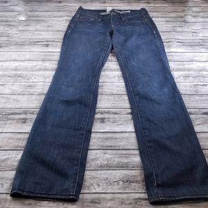 Madewell Rail Straight Leg Medium Dark Wash Jeans